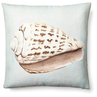 Shell 20x20 Pillow, Light Blue, Decorative Pillows