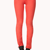 Colored Zip Skinny Jeans