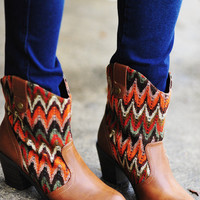 RESTOCK Little Miss Chevron Boots: Multi | Hope's
