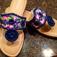 Jack Rogers inspired painted sandals
