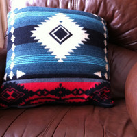 Fleece Native American Quillow, a quilt that folds into a decorative pillow