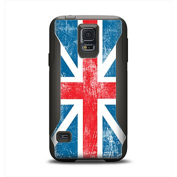 The Scratched Surface London England Flag Samsung Galaxy S5 Otterbox Commuter Case Skin Set