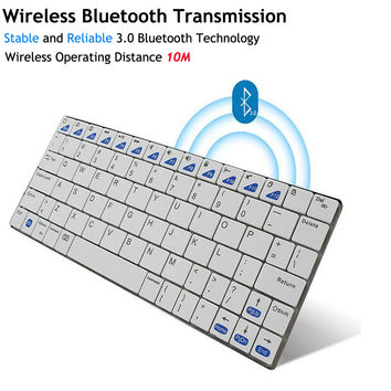 Ultra-slim Wireless Keyboard Bluetooth 3.0 Gaming Keybaord Board for Apple iPad/iPhone Series/Mac Book/Samsung Halloween Gift