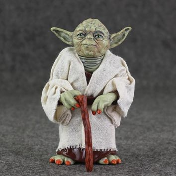 Star Wars Force Episode 1 2 3 4 5  Yoda Action Figure Toy The Force Awakens Jedi Warrior Master Yoda Collectible Model Doll AT_72_6