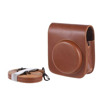 Vintage PU Camera Case Bag Pouch Cover Protector with Strap for Fujifilm Instax Mini 90 Instant Film Camera Black Brown Brand