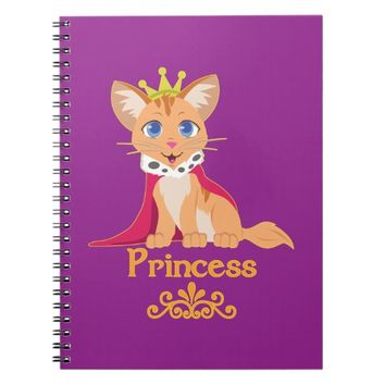 Princess Kitten Spiral Notebook