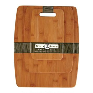 Naturally Anti-Microbial Bamboo 3-Piece Cutting Board Set