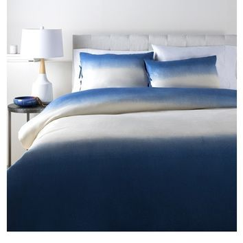 Dip Dyed Navy Blue Duvet Bedding Collection