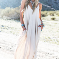 Maxi Dress with Adjustable Straps - More Colors