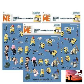 Despicable Me Foldover Sticker Sheets [3 Packs of 2 Sheets Ea]