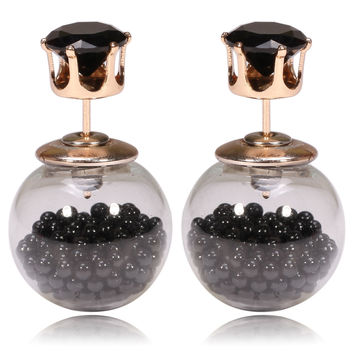 Gum Tee Tribal Earrings - Floating Caviar Black