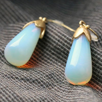 Light Blue Eggplant Earrings
