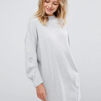 Pull&Bear Jumper Dress With Exposed Seam at asos.com