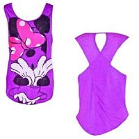 Disney's Teen/Junior Fashion Tank Top, Oopsy Minnie Mouse
