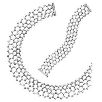 Cartier Diamond Tennis Necklace and Bracelet Suite