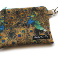 Peacock Dog Treat Pouch & Bag Holder