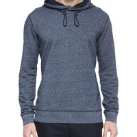 Long-Sleeve Pullover Hoodie, Navy, Size: