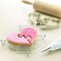 Valentine Cookie Cutters - Heart Puzzle Cookie Cutter Set of 2
