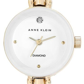 Women's Anne Klein Diamond Accent Bangle Watch, 23mm