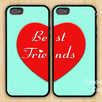 iphone 5 case-- Best Friends iPhone 5 Case, iphone case, Two Case Set