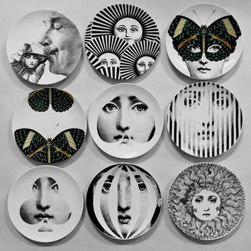 Beautiful Milan's Fornasetti Wall Decorative Hanging Plates