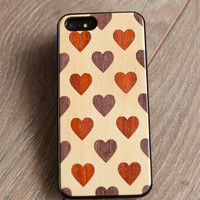 Love  - Apple iPhone 5 iPhone 4  Sony Xperia Samsung Galaxy Real Wood Black Transparent Case hard case