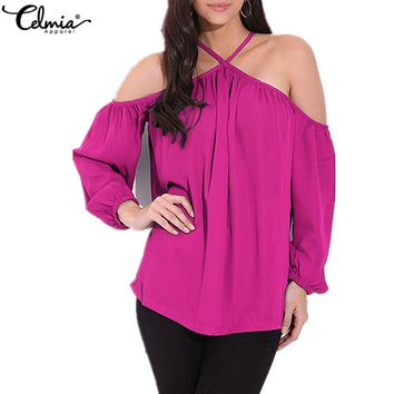 Off Shoulder Tops Blouse