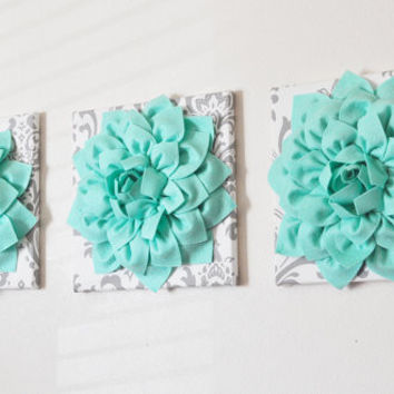 Mint Dahlia Wall Decor