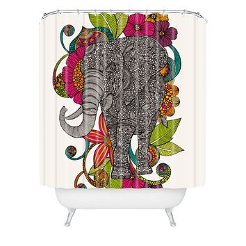 Valentina Ramos Ruby The Elephant Shower Curtain