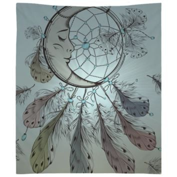 Moon Dream Catcher Tapestry Wall Hanging Meditation Yoga Grunge Hippie