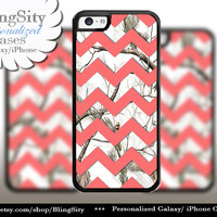 Monogram iPhone 5C 6 6 Plus Case White Snow Camo Coral Peach Chevron iPhone 5s 4 case Ipod Real Tree Personalized Country Inspired Girl