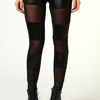 Carrie Mesh Insert Leggings