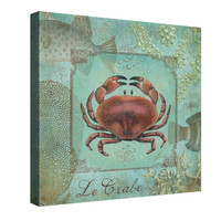Sea Life (Crab) Canvas Wall Art