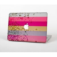 The Pink Water Stripes Skin Set for the Apple MacBook Air 13""