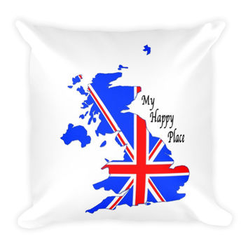 England My Happy Place Pillow