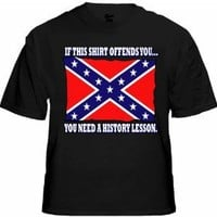 Rebel & Redneck Tees - Confederate Flag History Lesson T-Shirt #312