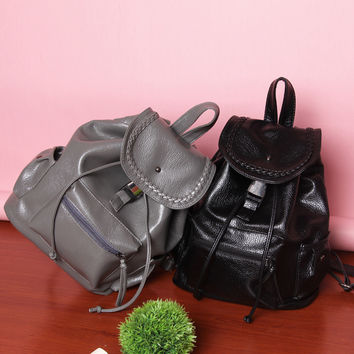 Comfort On Sale Back To School Casual Hot Deal College Stylish Korean Fashion Rinsed Denim Backpack [4982888836]