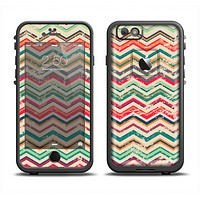 The Tan and Colored Chevron Pattern V55 Apple iPhone 6 LifeProof Fre Case Skin Set