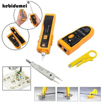 New Multi Function Cable Tester Wire Tracker Tracer Network RJ11 RJ45+ Network UTP Cable Cutter Stripper+KRONE Cable Crimper