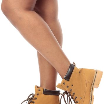 Camel Faux Nubuck Lace Up Ankle Boots @ Cicihot Boots Catalog:women's winter boots,leather thigh high boots,black platform knee high boots,over the knee boots,Go Go boots,cowgirl boots,gladiator boots,womens dress boots,skirt boots.