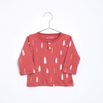 Red Forest Long Sleeve Baby Tee