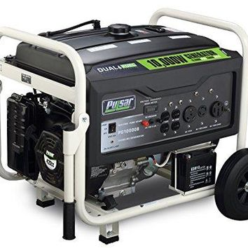 Pulsar PG10000B 8,000W Rated Portable Dual Fuel Generator with Electric Start