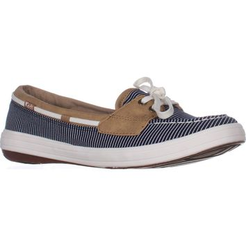 Keds Glimmer Lace Up Boat Shoes, Nautical Navy, 8.5 US / 39.5 EU