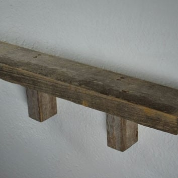 "Wood wall shelf 19"" wide 3"" deep, simple and natural!"