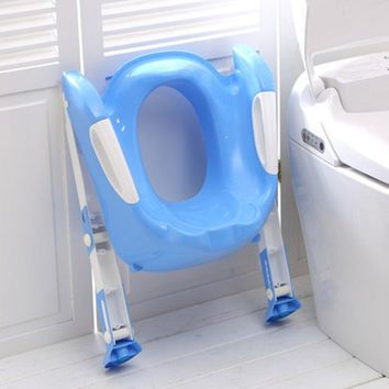 Baby Toddler Potty Toilet Trainer Safety Seat Adjustable Ladder Infant Toilet Pee Training Non-slip Folding Seat Potties for Boy