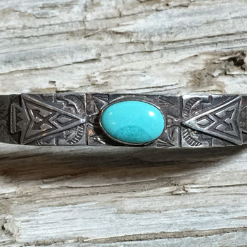Navajo Turquoise Arrow Bracelet Stacking