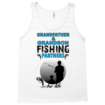 Grandfather & Grandson Fishing Partners For Life Tank Top