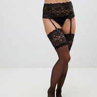 Ann Summers bow back lace up suspender set at asos.com