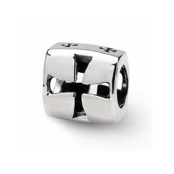 Sterling Silver Reflections Maltese Cross Bead