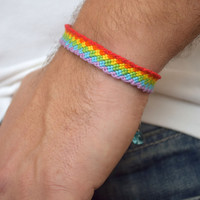 Gay pride bracelet gay couple jewelry gay pride flag Friendship lgbt bracelet rainbow bracelet Lesbian gifts for gays man gift wedding gift